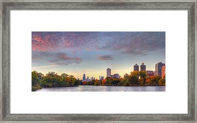Downtown Chicago Sunrise Framed Print by Twenty Two North Photography