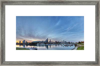 Downtown Chicao From Northerly Island Framed Print