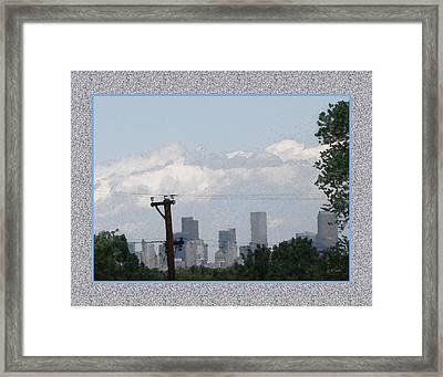 Downtown Denver Framed Print by Gretchen Wrede