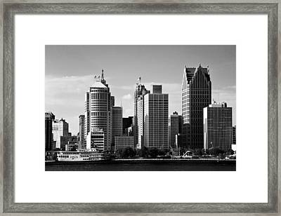 Downtown Detroit Framed Print by James Marvin Phelps