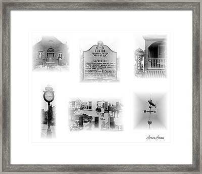 Downtown Elkton Framed Print by Lorraine Louwerse