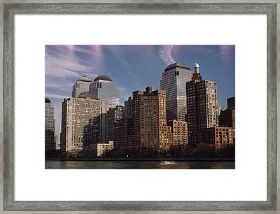 Downtown Financial District Framed Print by Justin Guariglia