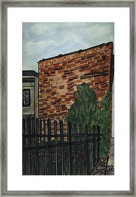 Framed Print featuring the painting Downtown Greer by Joan Zepf