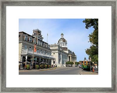 Downtown Kingston Framed Print