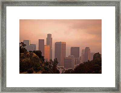 Downtown Los Angeles Framed Print by Andrew Kennelly