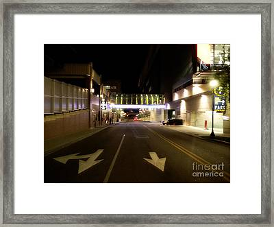 Downtown Louisville Street Framed Print by Utopia Concepts