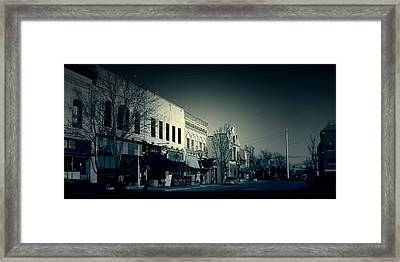 Downtown Menasha Framed Print by Joel Witmeyer