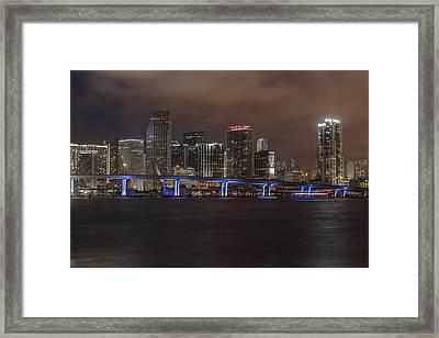 Downtown Miami 2012 Framed Print by Dan Vidal