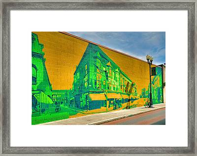 Downtown Mural IIi Framed Print by Steven Ainsworth