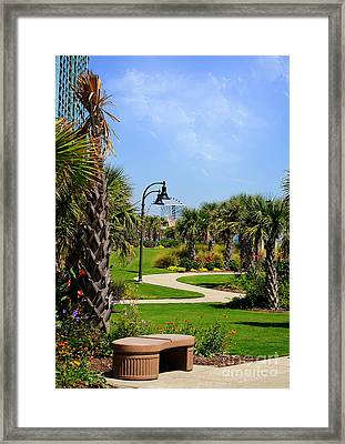 Downtown Myrtle Beach Framed Print by Kathy Baccari