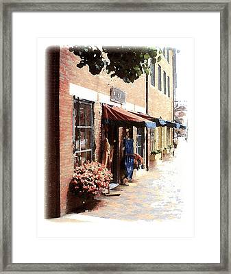 Downtown Newburyport Framed Print by Anthony Ross