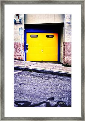 Downtown Northampton - Garage Framed Print by HD Connelly
