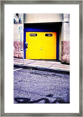 Downtown Northampton - Garage Framed Print