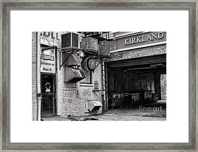 Downtown Northampton - Kirkland Ave Framed Print