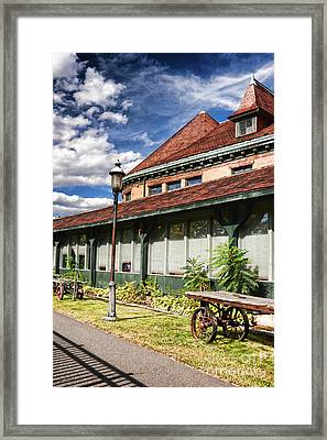 Downtown Northampton - Railroad Station Framed Print by HD Connelly