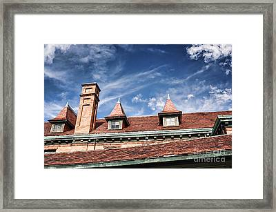 Downtown Northampton - Rooftop Framed Print