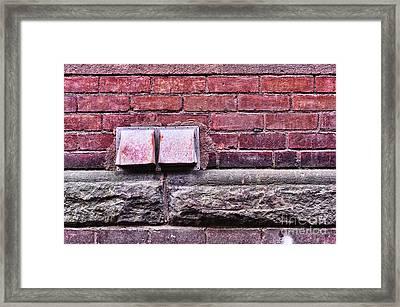 Downtown Northampton - Vents Framed Print