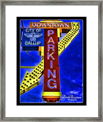 Downtown Parking Framed Print