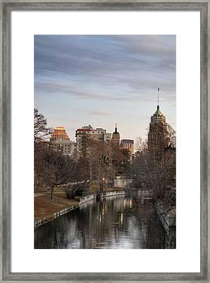 Downtown San Antonio, Texas Framed Print by Carol Wood