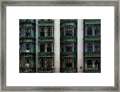 Downtown San Francisco Framed Print by Bob Christopher