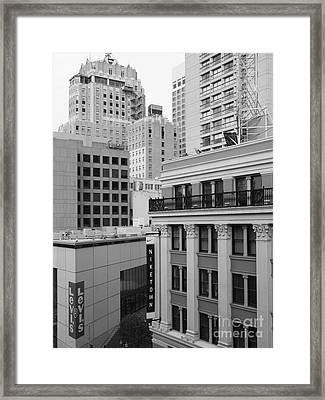 Downtown San Francisco Buildings - 5d19323 - Black And White Framed Print