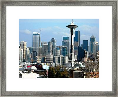 Downtown Seattle Framed Print