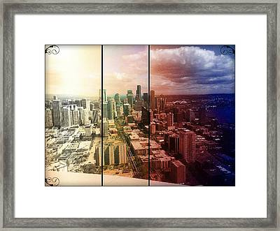 Downtown Seattle Framed Print by Lee Yang