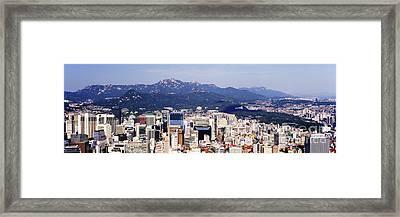 Downtown Seoul Skyline Framed Print by Jeremy Woodhouse