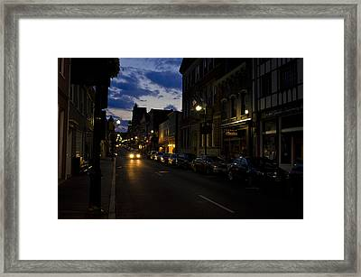 Downtown Staunton Virginia Zynodoa  Framed Print