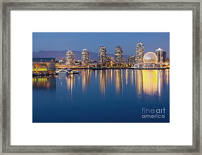 Downtown Vancouver Across The Water Framed Print