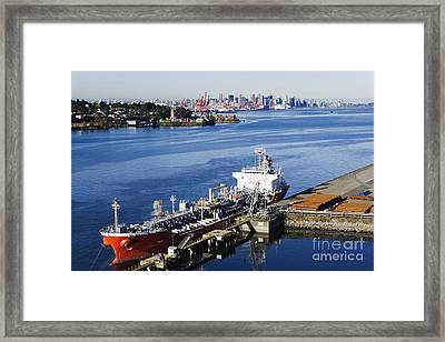 Downtown Vancouver Seen From Dockside Framed Print by Jeremy Woodhouse