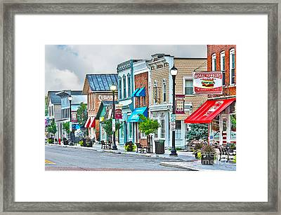 Downtown Waterville Framed Print