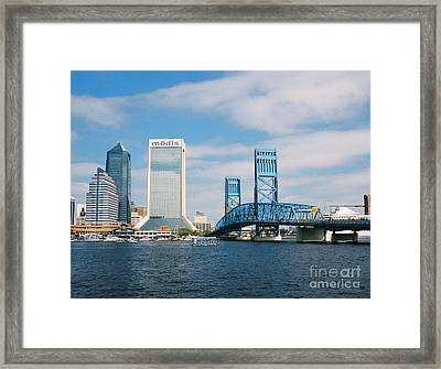 Dowtown Jacksonville Framed Print by Clint Day