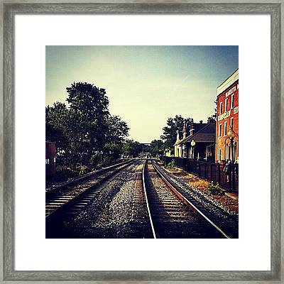 #dowtown #marietta. Shot With #droid Framed Print
