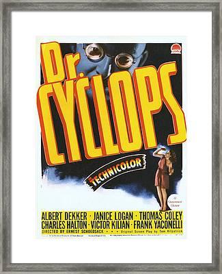 Dr. Cyclops, Albert Dekker, Janice Framed Print by Everett