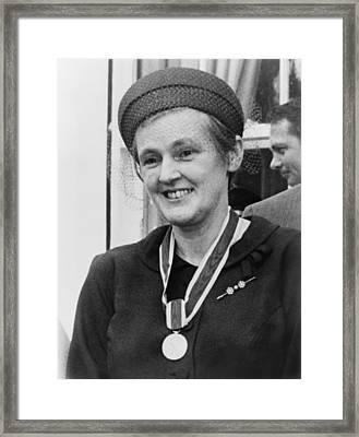 Dr. Frances O. Kelsey, Wearing Framed Print by Everett