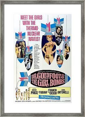 Dr. Goldfoot And The Girl Bombs, Man Framed Print by Everett