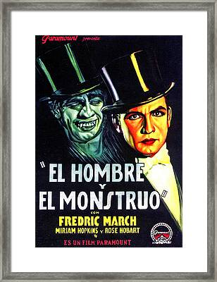 Dr. Jekyll And Mr. Hyde, Aka El Hombre Framed Print