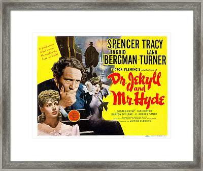 Dr. Jekyll And Mr. Hyde, Lana Turner Framed Print