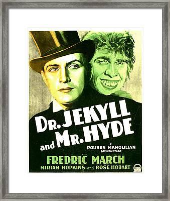 Dr. Jekyll And Mr. Hyde, Poster Art Framed Print