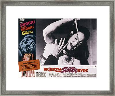 Dr. Jekyll And Sister Hyde, Martine Framed Print