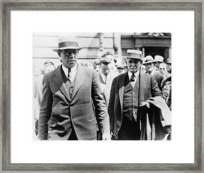 Dr. John F. Condon On Right Inserted Framed Print by Everett