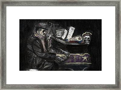 Framed Print featuring the drawing Dr. John In Charcoal And Pastel by Denny Morreale