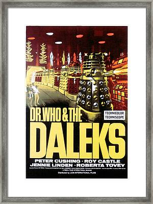 Dr. Who And The Daleks, 1965 Framed Print by Everett