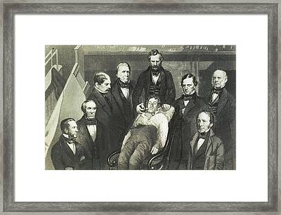 Dr. William T.g. Morton Administering Framed Print by Everett