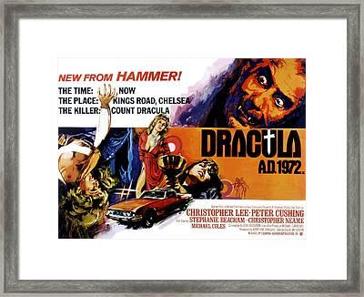 Dracula A.d. 1972, Stephanie Beacham Framed Print by Everett