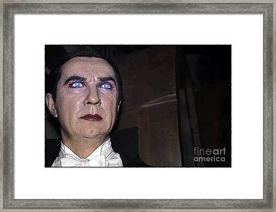 Dracula Cartoon Framed Print by Sophie Vigneault