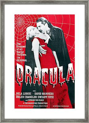 Dracula, From Left Frances Dade, Bela Framed Print by Everett