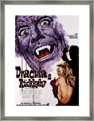 Dracula Has Risen From The Grave Framed Print