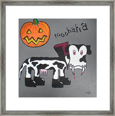 Framed Print featuring the painting Dracula by Sheep McTavish
